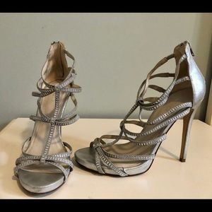 Gorgeous silver shoes from Ado